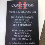 Carta de leche y de pan restaurante cáscaras II enrique larreta 1