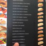 Carta montaditos desayunar restaurante cáscaras II calle enrique larreta madrid 1