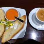 Desayuno Café Tostadas de Tomate Foreman Montecarmelo