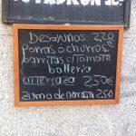 Desayuno La Oliva pizarra