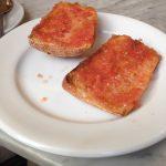 Desayuno Tostada de Tomate Café El Espejo