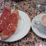 Desayuno Tostadas Con tomate el rincón de pardiñas