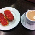 Desayuno Tostadas Tomate Café Bar Lazcano