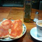 Desayuno Tostadas Tomate Restaurante Daser