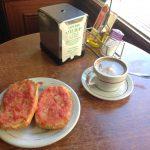 Desayuno Tostadas con tomate bar silma calle narvaez 1