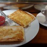 Desayuno Tostadas con tomate el rincón de maldonado