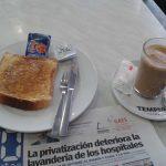 Desayuno café con tostada Verdoy Chueca