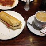 Desayuno montado jamón Tirso de Molina