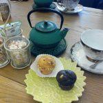 Desayuno té y muffins salón de té salvador bachiller calle montera desayunar en madrid el jardín secreto