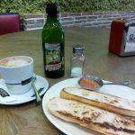 Desayuno tostadas con tomate Pecaditos alonso martinez madrid