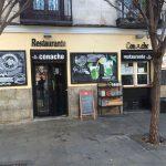 Entrada Café Conache Desayunar en Madrid Plaza San Ildefonso 1
