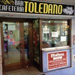 Entrada desayuno café bar toledano avenida de asturias 1
