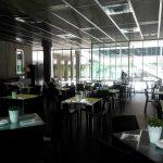 Interior café de oriente mesas museo del traje desayunar en madrid