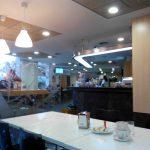Interior cafetería hospital jiménez díaz desayunar en madrid