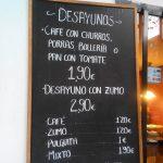 Menú Desayunos CoffeeBeer Cea Bermúdez Madrid