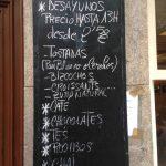 Menú desayunos La Piola desayunar en Madrid