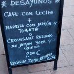 Menú desyunos Coticó Diego de León