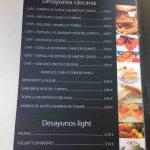 Menús desayunos restaurante cáscaras II calle enrique larreta madrid 1