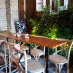 Mesa alta el jardín secreto terraza montera salvador bachiller desaunar en madrid