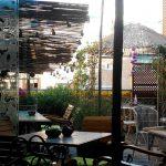 Mesas terraza El Jardín Secreto Salvador Bachiller Desayunar en Madrid Calle Montera