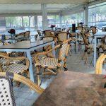 Mesas terraza Kon Tiki Garden San Juan de La Cruz Desayunar en Madrid