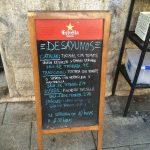 Pizarra desayunos Conache Madrid Plaza San Ildefonso 1