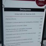 Precios desayunos barra de pintxos Diego de León