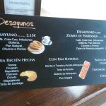 Precios desayunos la madreña arganzuela madrid
