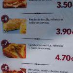 Precios menús desayunos almanzor francisco gervás tetuán