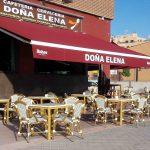 Terraza Doña Elena desayunar en las Tablas madrid 1